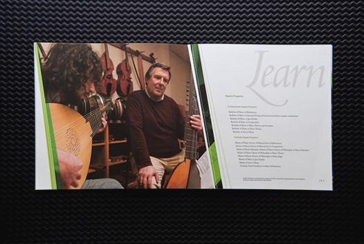 UNT College of Music Viewbook Selected Spread